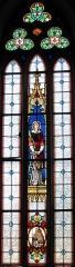 Eglise catholique Saint-Florent -  Alsace, Bas-Rhin, Niederhaslach, Collégiale Saint-Florent: (PA00084831, IA67011296, IA67011295): Verrière