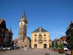Beffroi et chapelle dits Kappelturn -  Alsace, Bas-Rhin, Obernai, Ancienne chapelle Notre-Dame (XIIIe-XVe-XVIe), dite