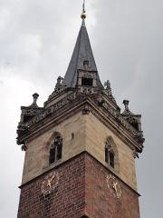Beffroi et chapelle dits Kappelturn -  Alsace, Bas-Rhin, Obernai, Ancienne chapelle Notre-Dame (XIIe-XVe-XVIe), puis beffroi, dite
