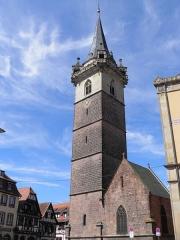 Beffroi et chapelle dits Kappelturn - Kapellturm à Obernai (Bas-Rhin, France).