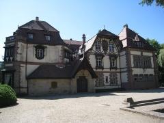 Domaine de la Léonardsau - Français:   Château de la Léonardsau actuel musée du cheval et de l\'attelage, Saint-Léonardsau (Inscrit Inscrit, 1986 1990)