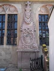 Cimetière -  Alsace, Bas-Rhin, Obernai, Cimetière (PA00084848).   Monument funéraire LB de Gail (XVIIIe).