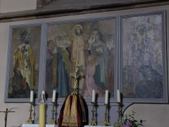 Eglise paroissiale Saint-Pierre-et-Paul -  Alsace, Bas-Rhin, Obernai, Église Saints-Pierre-et-Paul (PA00084850, IA00023930): Petite chapelle dans la nef sud.