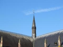 Eglise paroissiale Saint-Pierre-et-Paul -  Alsace, Bas-Rhin, Obernai, Église Saints-Pierre-et-Paul (PA00084850, IA00023930): Tour de croisée.
