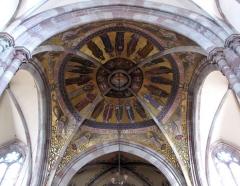 Eglise paroissiale Saint-Pierre-et-Paul -  Alsace, Bas-Rhin, Obernai, Église Saints-Pierre-et-Paul (PA00084850, IA00023930): Voûtes et peintures monumentales (XIXe).