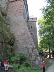 Château du Haut-Koenigsbourg (ou Hohenkoenigsbourg) - English: North wall the castle of Haut-Koenigsbourg (Bas-Rhin, France).