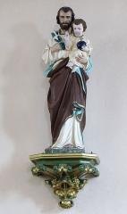 Eglise catholique Saint-Maurice -  Alsace, Bas-Rhin, Orschwiller, Église Saint-Maurice (PA00084876, IA00124520): Statue de St-Joseph.