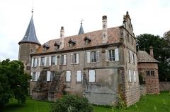 Château -  Alsace, Bas-Rhin, Osthoffen, Château (XVIe-XIXe) (PA00084877, IA67005654): contreforts.