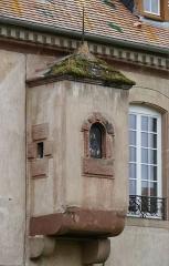 Château -  Alsace, Bas-Rhin, Osthoffen, Château (XVIe-XIXe) (PA00084877, IA67005654): bretèche sur façade nord.