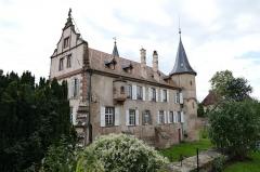 Château -  Alsace, Bas-Rhin, Osthoffen, Château (XVIe-XIXe) (PA00084877, IA67005654): Façade nord.