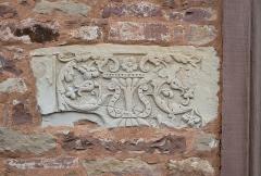 Château -  Alsace, Bas-Rhin, Osthoffen, Château (XVIe-XIXe) (PA00084877, IA67005654): relief floral.