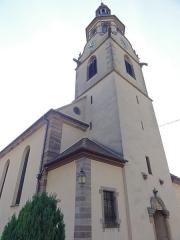 Eglise catholique Saint-Barthélemy -  Alsace, Bas-Rhin, Osthouse, Église Saint-Barthélémy (XVe-XVIIIe) (PA00084879, IA00023400).