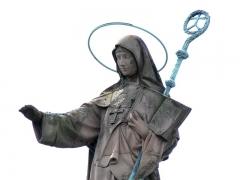 Monastère de Sainte-Odile, au Mont-Saint-Odile -  Alsace, Bas-Rhin, Ottrott, Couvent du Mont Sainte-Odile (PA00084884, IA00075612): Statue monumentale de Sainte Odile.