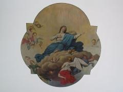 Chapelle Sainte-Marie-du-Chêne ou Notre-Dame-du-Chêne -  Alsace, Bas-Rhin, Plobsheim, Chapelle Notre-Dame du Chêne, Appartement du Waldbruder (1812): (PA00084895, IA00023121): Peinture monumentale du plafond.