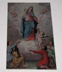 Chapelle Sainte-Marie-du-Chêne ou Notre-Dame-du-Chêne -  Alsace, Bas-Rhin, Plobsheim, Chapelle Notre-Dame du Chêne, Appartement du Waldbruder (1812): (PA00084895, IA00023121): Peinture monumentale