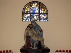 Chapelle Sainte-Marie-du-Chêne ou Notre-Dame-du-Chêne -  Alsace, Bas-Rhin, Plobsheim, Chapelle Notre-Dame du Chêne, Appartement du Waldbruder (1812): (PA00084895, IA00023121): Vierge de Pitié.