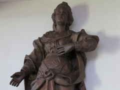 Chapelle Sainte-Marie-du-Chêne ou Notre-Dame-du-Chêne -  Alsace, Bas-Rhin, Plobsheim, Chapelle Notre-Dame du Chêne, Appartement du Waldbruder (1812): (PA00084895, IA00023121): Statue Immaculée Conception.