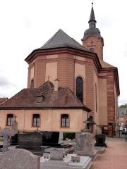 Eglise catholique Saint-Michel -  Alsace, Bas-Rhin, Reichshoffen, Église Saint-Michel (PA00084898, IA00123481).