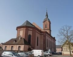Eglise catholique Saint-Michel - Eglise Saint-Michel de Reichshoffen (Bas-Rhin). Classé Monument historique en 1921.