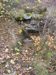 Ruines du château Ochsenstein - English: Arch remain in the North building of castle of Grand Ochsenstein, Bas-Rhin, France