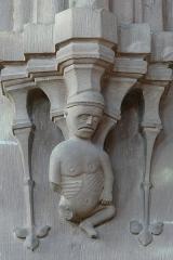 Eglise catholique de Reinacker -  Alsace, Bas-Rhin, Reutenbourg, Couvent de Reinacker, Église de la Vierge et de la Sainte-Croix (PA00084902, IA67007633).  Relief