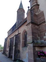 Eglise catholique de Reinacker -  Alsace, Bas-Rhin, Reutenbourg, Couvent de Reinacker, Église de la Vierge et de la Sainte-Croix (PA00084902, IA67007633).