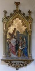 Eglise catholique de l'Assomption-de-la-Vierge - Alsace, Bas-Rhin, Rosenwiller, Église Notre-Dame de l'Assomption (PA00084907, IA00075624).  Chemin de croix (XIXe ou XXe).