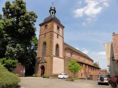 Ancienne église abbatiale -  Alsace, Bas-Rhin, Saint-Jean-Saverne, Église abbatiale Saint-Jean-Baptiste (PA00084921, IA00055618).