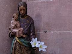 Ancienne église abbatiale -  Alsace, Bas-Rhin, Saint-Jean-Saverne, Église abbatiale Saint-Jean-Baptiste (PA00084921, IA00055618): Statue de Saint-Joseph (XIXe?).
