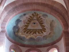 Ancienne église abbatiale -  Alsace, Bas-Rhin, Saint-Jean-Saverne, Église abbatiale Saint-Jean-Baptiste (PA00084921, IA00055618): Fresque