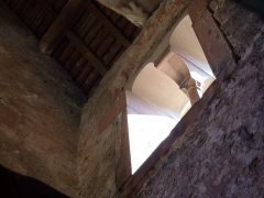 Chapelle Saint-Nicolas - Français:   Fenêtre du clocher, chapelle Saint-Nicolas, abbaye de Niedermunster, Bas-Rhin, France