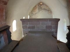 Chapelle Saint-Nicolas - Français:   Tribune vue de derrière, chapelle Saint-Nicolas, abbaye de Niedermunster, Bas-Rhin, France