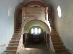 Chapelle Saint-Nicolas - Français:   Intérieur de la chapelle Saint-Nicolas, abbaye de Niedermunster, Bas-Rhin, France
