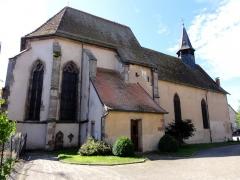 Eglise collégiale Saint-Blaise -  Alsace, Bas-Rhin, Sarrewerden, Église Saint-Barthélemy (ancienne Collégiale Saint-Blaise) (PA00084945, IA67005982): Façade nord.
