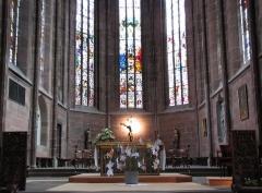 Eglise paroissiale Notre-Dame-de-la-Nativité -  Alsace, Bas-Rhin, Saverne, Église Notre-Dame-de-la-Nativité (PA00084954, IA00055464): Architecture du chœur.