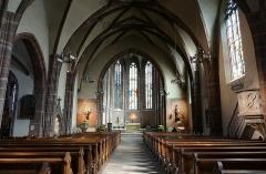 Eglise paroissiale Notre-Dame-de-la-Nativité -  Alsace, Bas-Rhin, Saverne, Église Notre-Dame-de-la-Nativité (PA00084954, IA00055464): Vue intérieure de la nef vers le chœur.