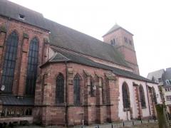 Eglise paroissiale Notre-Dame-de-la-Nativité -  Alsace, Bas-Rhin, Saverne, Église Notre-Dame-de-la-Nativité (PA00084954, IA00055464): Façade nord.