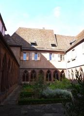 Ancien couvent des Récollets et église Saint-Antoine-de-Padoue - Église Saint-Antoine-de-Padoue et cloître des Récollets - cloître de l'église - aile est (sacristie voûtée avec peinture, porte à chambranle, deux salles voûtées) - église