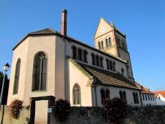 Eglise protestante de Scharrachbergheim -  Alsace, Bas-Rhin, Scharrachbergheim, Église protestante (PA00084969, IA67007003).