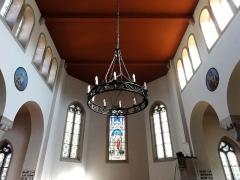 Eglise protestante de Scharrachbergheim -  Alsace, Bas-Rhin, Scharrachbergheim, Église protestante (PA00084969, IA67007003): Vue intérieure de l'église vers le chœur.