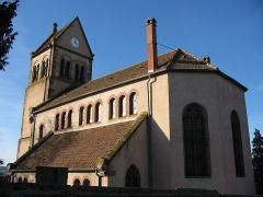 Eglise protestante de Scharrachbergheim -  Église protestante de Scharrachbergheim-Irmstett dans le Bas Rhin.