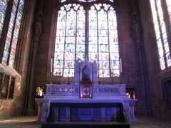 Ancienne cathédrale ou église Saint-Georges -  Alsace, Bas-Rhin, Sélestat, Église Saint-Georges (PA00084978, IA00124588): Chœur et maître-autel (Théophile Klem, 1899).