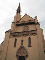 Ancienne église des Franciscains, ou église protestante -  Alsace, Bas-Rhin, Sélestat, Église protestante, Ancien Couvent de franciscains (XIVe-XVe), place du Marché aux pots (PA00084980, IA00124591).