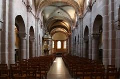 Eglise Sainte-Foy -  Alsace, Bas-Rhin, Sélestat, Église Sainte-Foy (PA00084981, IA00124586): Vue intérieure de la nef vers le chœur.