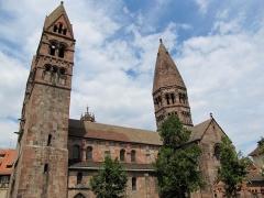 Eglise Sainte-Foy -  Alsace, Bas-Rhin, Sélestat, Église Sainte-Foy (PA00084981, IA00124586): Façade sud.