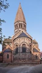 Eglise Sainte-Foy -  Alsace, Bas-Rhin, Église Sainte-Foy de Sélestat (PA00084981, IA00124586): Chevet roman.