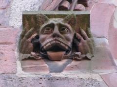 Eglise Sainte-Foy -  Alsace, Bas-Rhin, Sélestat, Église Sainte-Foy (PA00084981, IA00124586): Corbeau (XIXe?).