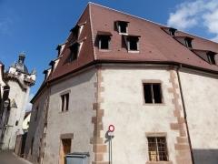 Tour dite Tour Neuve ou Tour de l'Horloge - This building is inscrit au titre des monuments historiques de la France. It is indexed in the base Mérimée, a database of architectural heritage maintained by the French Ministry of Culture,under the references PA00084976   and IA00124608 .