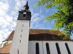 Eglise protestante -  Alsace, Bas-Rhin, Soultz-sous-Forêts, Église protestante (PA00085007, IA00118989).