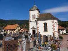 Ancienne église paroissiale, ou chapelle du cimetière -  Alsace, Bas-Rhin, Steige, Chapelle du cimetière (XIIe-XVIIIe), Grand'Rue (PA00085008).
